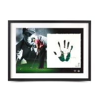 "Tiger Woods Signed 20x28 Custom Framed Tegata Lithograph Display Inscribed ""08 U.S. Open Champ"" (UDA COA)"