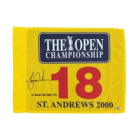 Tiger Woods Signed 2000 British Open Pin Flag (UDA COA) at PristineAuction.com