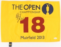 """Phil Mickelson Signed 13.5"""" x 18"""" 2013 The Open Championship Golf Pin Flag (JSA LOA)"""