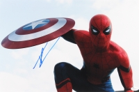 "Tom Holland Signed ""Spider-Man"" 12"" x 18"" Photo (JSA COA)"