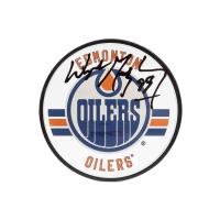 Wayne Gretzky Signed Edmonton Oilers Acrylic Hockey Puck (UDA COA) at PristineAuction.com