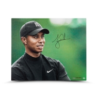 "Tiger Woods Signed ""Up Close & Personal"" 20x24 Photo on Canvas (UDA COA) at PristineAuction.com"