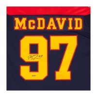 Connor McDavid Signed Erie Otters Captain Jersey (UDA COA) at PristineAuction.com