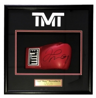 "Floyd Mayweather Jr. Signed ""The Money Team"" 18x19x4 Custom Framed Boxing Glove Shadowbox Display (Beckett COA) at PristineAuction.com"