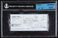 Charles Manson Twice-Signed Personal Bank Check (BGS Encapsulated)