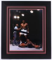 """Cassius Clay """"Muhammad Ali"""" Signed 27.5"""" x 23.5"""" Custom Framed Photo (PSA LOA)"""
