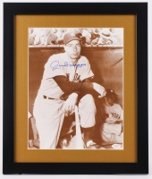 "Joe DiMaggio Signed Yankees 16"" x 19"" Custom Framed Photo Display (JSA LOA) at PristineAuction.com"