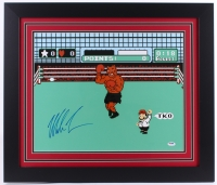 """Mike Tyson Signed """"Mike Tyson's Punch-Out!!"""" 27.5"""" x 23.5"""" Custom Framed Photo Display (PSA COA)"""