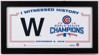 """2016 Chicago Cubs World Series Champions 12.25"""" x 22.25"""" Custom Framed Photo Display at PristineAuction.com"""