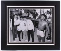 """Muhammad Ali Signed 27.5"""" x 23.5"""" Custom Framed Photo with The Beatles (PSA LOA)"""