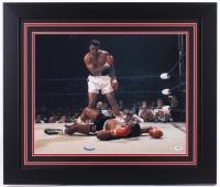 """Muhammad Ali Signed 27.5"""" x 23.5"""" Custom Framed Photo (PSA LOA & Autograph Graded PSA 10)"""