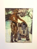 "Star Wars ""R2-D2 & C-3PO on Hoth"" 1994 Limited Edition Chromart 11x14 Custom Archival Matted Print (Lucasfilm COA)"