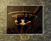 "Star Trek ""USS Enterprise NCC-1701-D"" 1994 Collector's Limited Edition Chromart Print (Paramount COA)"