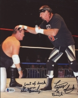 Terry Funk Signed 8x10 Photo With Extensive Inscription (Beckett COA)