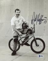 """Mat Hoffman Signed BMX 8x10 Photo Inscribed """"17"""" (Beckett COA)"""