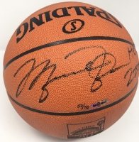 "Michael Jordan Signed LE 50th Anniversary HOF Official NBA Game Ball Inscribed ""HOF 2009"" (UDA COA) at PristineAuction.com"