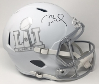 "Tom Brady Signed LE ""Super Bowl 51"" Custom Matte White ICE Full-Size Speed Helmet (Steiner COA & TriStar Hologram)"
