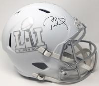 """Tom Brady Signed LE """"Super Bowl 51"""" Custom Matte White ICE Full-Size Speed Helmet (Steiner COA)"""