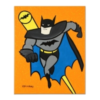 "Valter Morais Signed ""Batman"" 16x20 Original Acrylic Painting on Gallery Wrapped Canvas"