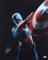 "Stan Lee Signed ""Captain America"" 16x20 Photo (PSA COA)"
