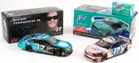 Lot of (2) Ricky Stenhouse Jr. Signed LE Ford Fusion NASCAR Custom 1:24 Diecast Cars with (1) 2013 Zest & (1) 2014 Nationwide Insurance (Action COA)