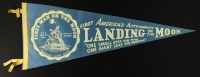 "1969 Vintage Original Apollo 11 ""First Landing on the Moon"" Pennant (Neil Armstrong, Buzz Aldrin & Michael Collins) at PristineAuction.com"