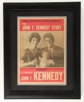 "John F. Kennedy Signed 17"" x 21"" Custom Framed Newspaper Cover (JSA LOA)"