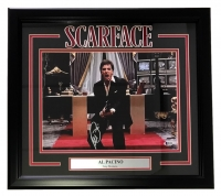 "Al Pacino Signed ""Scarface"" 19x21 Custom Framed Photo Display (Beckett COA)"