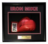 "Mike Tyson Signed ""Iron Mike"" 18x19x4 Custom Framed Boxing Glove Shadowbox Display (JSA COA)"
