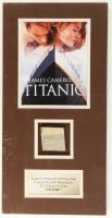 """Titanic"" 9.5"" x 19"" Custom Matted Movie Prop Ship Piece Display"