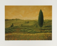 "Steven Lavaggi Signed ""Tuscan Vision"" LE 16"" x 20"" Lithograph"