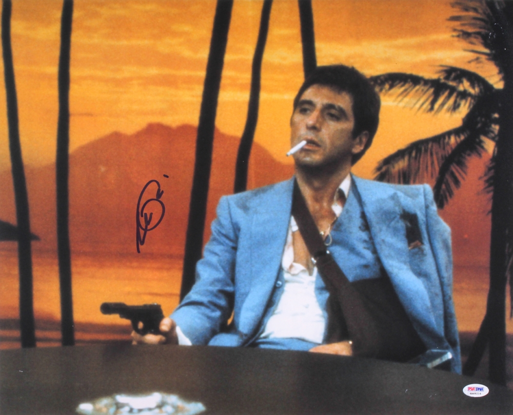 Online sports memorabilia auction pristine auction for Occhiali al pacino scarface
