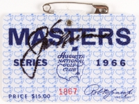 Jack Nicklaus Signed 1966 Masters Golf Ticket Badge (JSA COA)