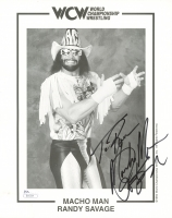 Randy Savage Signed WCW 8x10 Photo (JSA COA)