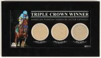 """American Pharoah """"Triple Crown Winner"""" Custom Framed Race-Used Dirt Display (Steiner COA)"""
