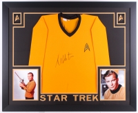 "William Shatner Signed Star Trek 35"" x 43"" Custom Framed Uniform (JSA COA) (Imperfect)"