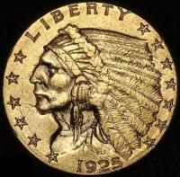 1925-D $2.50 Indian Head Quarter Eagle Gold Coin (High Grade Condition)