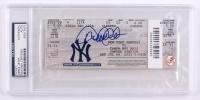Derek Jeter Signed 3,000th Hit Game Ticket (PSA Encapsulated)