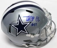 Taco Charlton Signed Cowboys Full-Size Helmet (JSA COA)