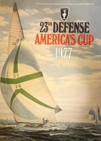 "Vintage 1977 ""23rd Defense America's Cup"" 21"" x 28"" Collectible Lithograph Quality Poster"