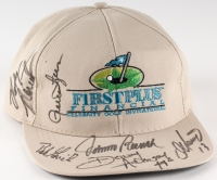 Golf Invitational Adjustable Hat Signed by (6) with Johnny Bench, Donny Anderson, Dan Marino, Rollie Fingers, Bob Grich (JSA COA)