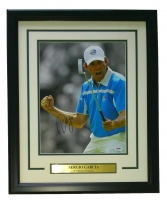 "Sergio Garcia Signed 18"" x 22"" Custom Framed Photo Display (PSA COA)"