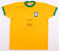 Pele Signed Team Brazil 1970 World Cup Finals Jersey (PSA Hologram)