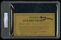 """Gene Wilder Signed Willy Wonka & the Chocolate Factory """"Wonka's Golden Ticket"""" Movie Prop Replica (PSA Encapsulated & Autograph Graded 10)"""