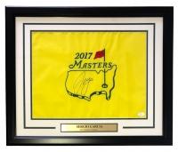 "Sergio Garcia Signed 2017 Masters 19"" x 23"" Custom Framed Pin Flag Display (JSA LOA)"