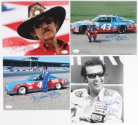 Lot of (4) Richard Petty Signed NASCAR 8x10 Photos (JSA COA)