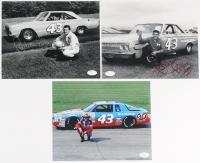 Lot of (3) Richard Petty Signed NASCAR 8x10 Photos (JSA COA)
