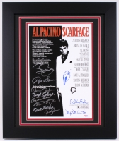 """Scarface"" 19.5"" x 23.5"" Custom Framed Poster Print Signed by (11) with Al Pacino, Pepe Serna, Steven Bauer, Mark Margolis (PSA LOA)"