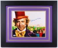 "Gene Wilder Signed ""Willy Wonka & the Chocolate Factory"" 19.5"" x 23.5"" Custom Framed Photo (PSA COA)"