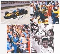 Lot of (4) Al Unser Sr. Signed NASCAR 8x10 Photos (JSA COA)